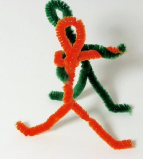 Pipe cleaners can make simple or elegant artwork