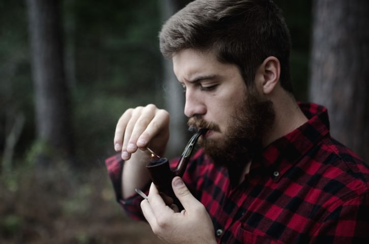 Lighting a Pipe
