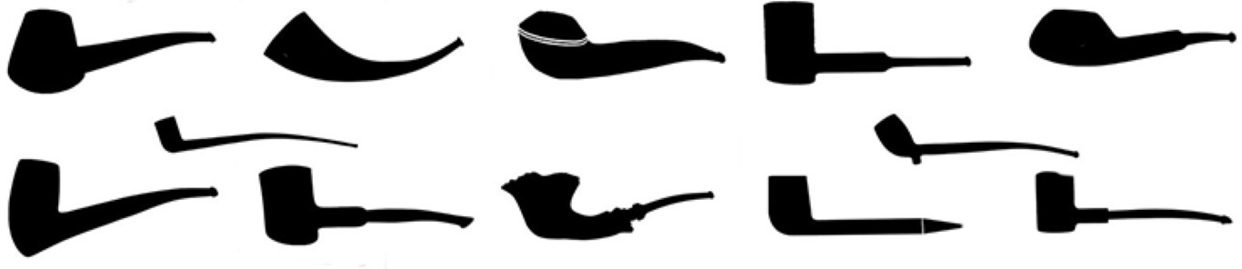 There are many different tobacco pipe shapes